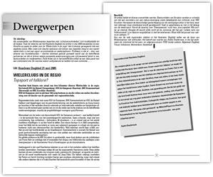 Wielerexpress 2006 - Dwergwerpen - Wielerclubs in de regio topsport of folklore