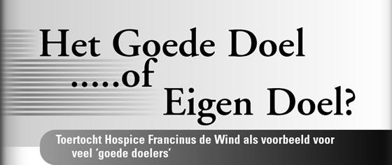Wielerexpress 2007 - Het goede doel of eigen doel?